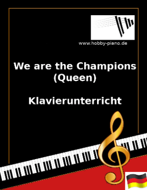 We are the Champions (Queen) Online Klavierunterricht