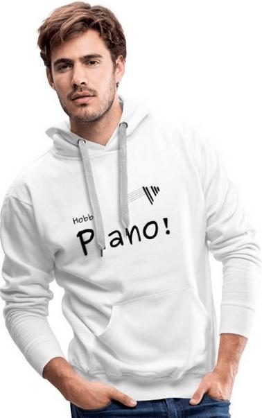 maenner hoodie weiss